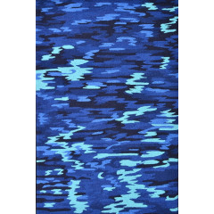The Rug Market Galan 25565D Blue Black Aqua