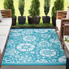 Tayse Rugs Sunset Jennifer SUN1501 Aqua