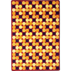 Joy Carpet - Roundabout Kid Essentials - Teen Area Rugs Red