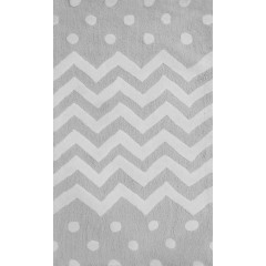 The Rug Market ZIGZAG 74077B Blacks Greys