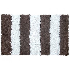 The Rug Market Brown Stripe 02279A Brown White