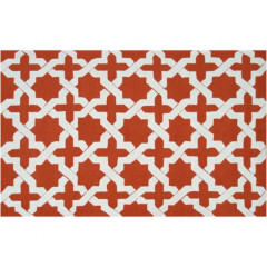 The Rug Market Escher 25466D Orange White