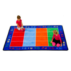 Learning Carpet - Cut Pile Abc Squares  Multi