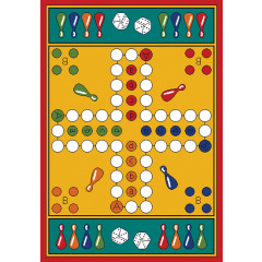 Learning Carpet - Play Parcheesi  Multi