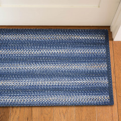 Homespice Rugs-Ultra Durable Braided Slims-Mystic-Blue