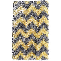 The Rug Market Shaggy 02289B Yellow Grey