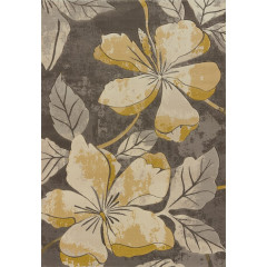 United Weavers Of America - Contours Floral Canvas Grey