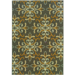 Oriental Weavers Rugs BALI B8990H Grey/ Gold