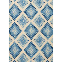 Central Oriental - Sanibel Cadenza Blue-Cream