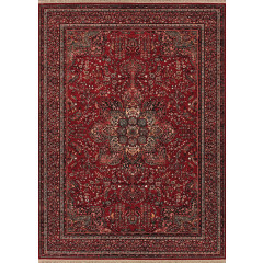 Couristan Rugs KASHIMAR ALL OVER CENTER MEDALLION 06123337 ANTIQUE RED