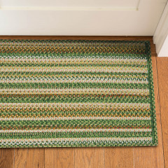 Homespice Rugs-Ultra Durable Braided Slims-Mountain View-Green