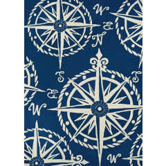 Couristan Rugs OUTDOOR ESCAPE MARINER 42944191 NAVY/IVORY