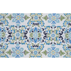 The Rug Market Seriano 25549D White Blue Grn