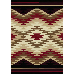 American Dakota Rugs Trader Rugs 0102RED Burgundy