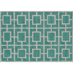 The Rug Market Larson Pa0112D Teal White