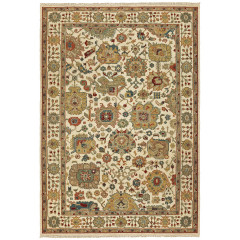 Oriental Weavers Rugs ANGORA A12301 Ivory/ Gold