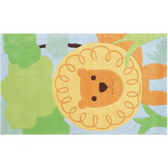 The Rug Market Roar 74011B Org Grn Blu