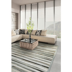 Couristan Rugs CHALET PLANK 00270101 GREY/IVORY