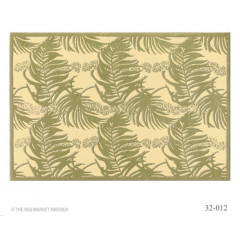 The Rug Market Lacey Ferns 32012C Green Tan