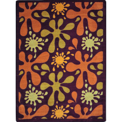 Joy Carpet - Splat Kid Essentials - Teen Area Rugs Burgundy