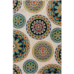 Central Oriental - Terrace Tropic Burnette Snow-Multi