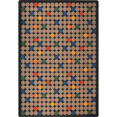Joy Carpet - Spot On Playful Patterns - Children'S Area Rugs Antique